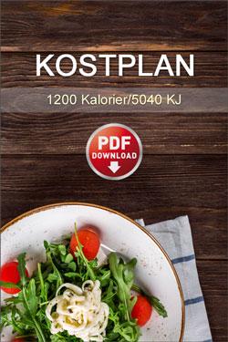 Kostplan 1200 Kalorier