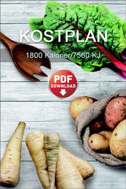 Kostplan 1800 Kalorier